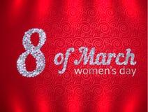 Groetkaart op de Dag van Internationale Vrouwen Royalty-vrije Stock Fotografie