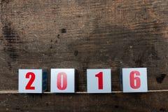 Groetkaart van Nieuwjaar 2016 Stock Foto's
