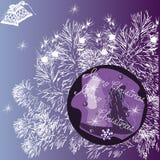 Groetkaart van Vrolijke Kerstmis ` van ` Stock Afbeeldingen