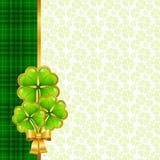 Groetkaart voor de dag van Heilige Patrick stock illustratie