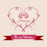 Groetkaart voor de Dag van Valentine Stock Afbeeldingen
