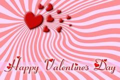 Groetkaart voor de Dag van Valentine Royalty-vrije Stock Fotografie