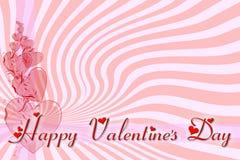 Groetkaart voor de Dag van Valentine Stock Fotografie