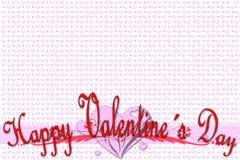Groetkaart voor de Dag van Valentine Stock Afbeelding