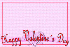 Groetkaart voor de Dag van Valentine Stock Foto's