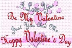 Groetkaart voor de Dag van Valentine Royalty-vrije Stock Foto