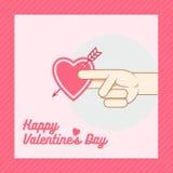 Groetkaart voor de Dag van Valentine s Stock Fotografie