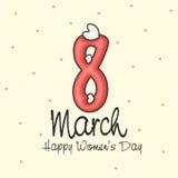 Groetkaart voor de Dag van Vrouwen Stock Afbeeldingen