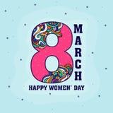 Groetkaart voor de Dag van Vrouwen Stock Foto's
