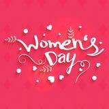 Groetkaart voor de Dagviering van Vrouwen Stock Foto