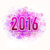 Groetkaart voor Gelukkig Nieuwjaar 2016 Stock Fotografie