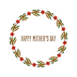 Groetkaart voor Moeders Dag Royalty-vrije Stock Afbeeldingen