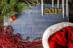 Groetkaart voor nieuwe 2017 Stock Foto's