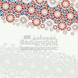 Groetkaart voor Ramadan Kareem en Ied Mubarak Islamitische sier van mozaïek achtergrondillustratie royalty-vrije illustratie