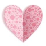 Groetkaart voor Valentijnskaartendag. Stock Afbeeldingen
