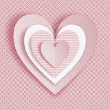 Groetkaart voor Valentijnskaartendag Stock Afbeeldingen