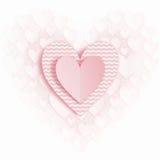 Groetkaart voor Valentijnskaartendag Stock Fotografie