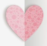 Groetkaart voor Valentijnskaartendag Royalty-vrije Stock Afbeeldingen