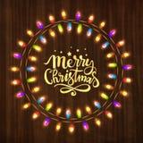 Groetkaart voor Vrolijke Kerstmisviering Royalty-vrije Stock Afbeeldingen