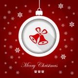 Groetkaart, Vrolijke Kerstmis royalty-vrije illustratie