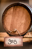 Grog barrel Stock Image