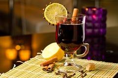 Grog with cinnamon and lemon Stock Photo