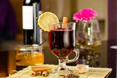 Grog with cinnamon and lemon Royalty Free Stock Images
