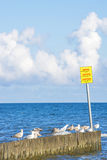 Groin in the Baltic Sea Royalty Free Stock Image