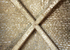 Groin vault of the middle ages, from below Stock Photography