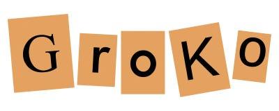 Groko (Grand Coalition). GroKo, short for Grosse Koalition in German (meaning Grand Coalition), written with newspaper letters stock illustration
