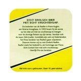 Grolsch Radler beermat 背景查出的白色 免版税库存图片