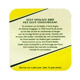 Grolsch Radler beermat. Isolated on white background Royalty Free Stock Image