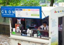 Grom冰淇凌街道食物在曼哈顿 库存照片