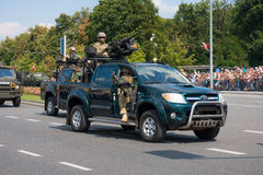 GROM -波兰精华反恐怖主义单位 库存照片