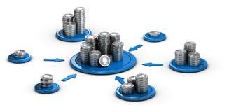 Gromadzący fundusze, Współpracujący finanse ilustracja wektor