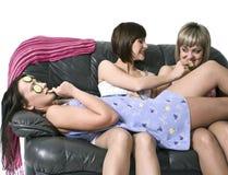 gromadzenia się dziewczyn przyjęcie Zdjęcie Stock