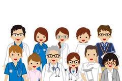 Gromadzić Medyczni zajęć ludzie, talia up royalty ilustracja
