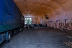 Gromadzić budowy dla koncertowej sceny Zdjęcie Stock