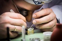 Gromadzić machinalnego zegarek Zdjęcie Royalty Free