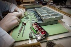 Gromadzić machinalnego zegarek Fotografia Stock