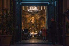 Gromadzi przy theUrban katedralnym Nossa Senhora da Consolação w Sã, Obraz Stock