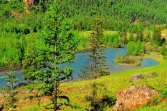 gromadzka halna panorama Zdjęcie Royalty Free
