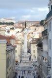 Gromadzka Rossio kolumna, Lisbon miasto, Europe Zdjęcie Royalty Free
