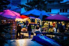 Gromadzki bazar Przy nocą Zdjęcie Stock