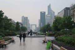 Gromadzki losu angeles defènse w Paris drapacza chmur miasta biznesie Zdjęcie Stock