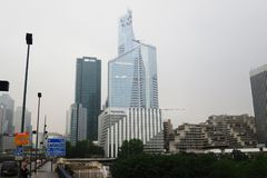 Gromadzki losu angeles defènse w Paris drapacza chmur miasta biznesie Obrazy Royalty Free