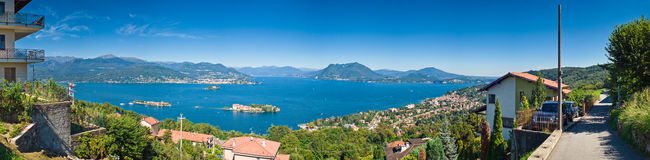 gromadzki włoski jezioro Obraz Royalty Free