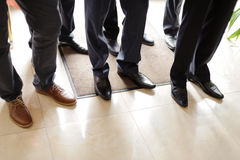 Gromm with Groomsmen Royalty Free Stock Photos
