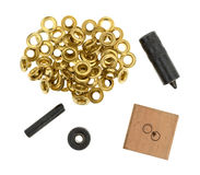 Grommet kit on a white background Royalty Free Stock Images