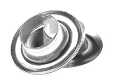 Grommets Macro Isolated Royalty Free Stock Photos